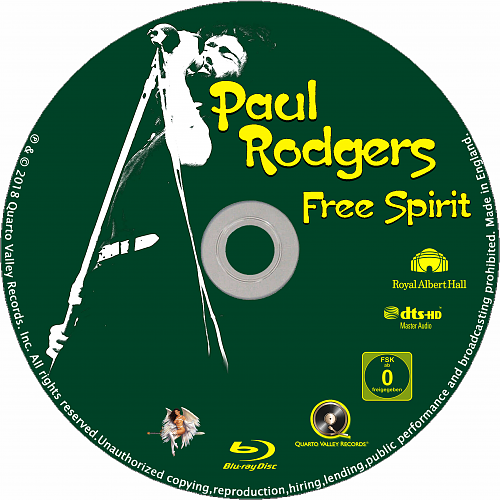 Paul Rodgers - Free Spirit (2018) bd disc