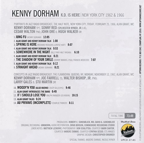 Kenny Dorham - K.D. Is Here 1962 & 1966 (2016)