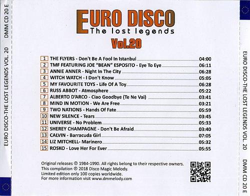 Euro Disco - The Lost Legends Vol. 20 (2018)