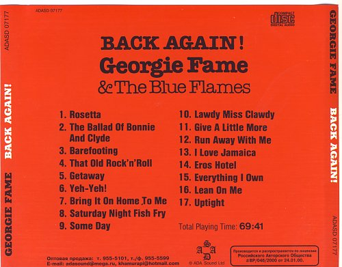Georgie Fame & The Blue Flames - Back Again! (1969)