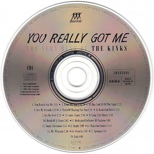 Kinks,The - You Really Got Me - The Very Best Of The Kinks (1994)