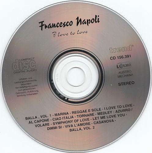 Francesco Napoli - I Love To Love (1996)