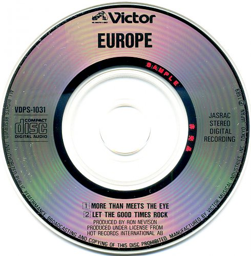 Europe - More Than Meets The Eye (1989)