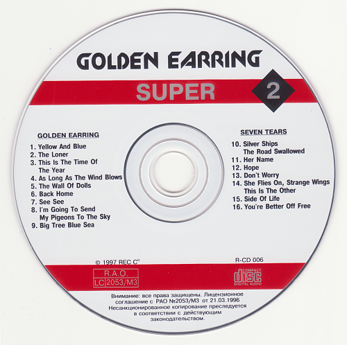 Golden Earring - Golden Earring / Seven Tears (1997)