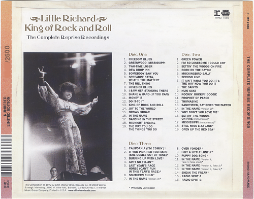 Little Richard - King of Rock and Roll. The Complete Reprise Recordings (2004)