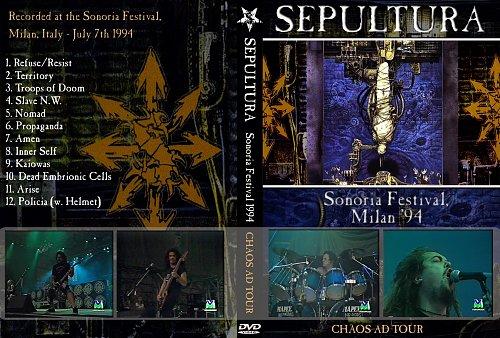 Sepultura-Sonoria Festival Milan(1994)CHAOS AND TOUR.