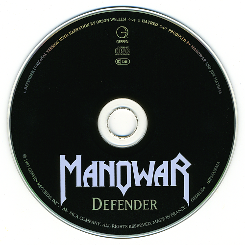 Manowar - Defender (1993, CD-Single)