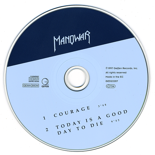 Manowar - Courage (1997, CD-Single)