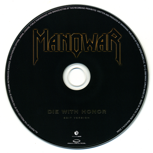 Manowar - Die With Honor (2008, CD-Single)