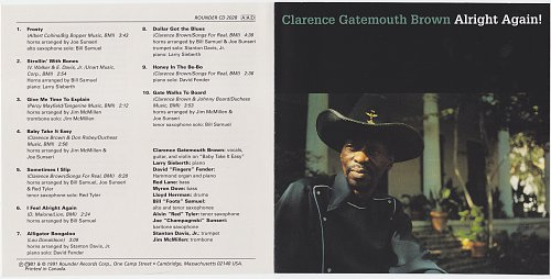 Clarence 'Gatemouth' Brown - Alright Again! (1981)