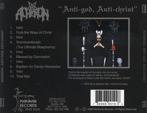 Acheron - Anti-God, Anti-Christ (1996)