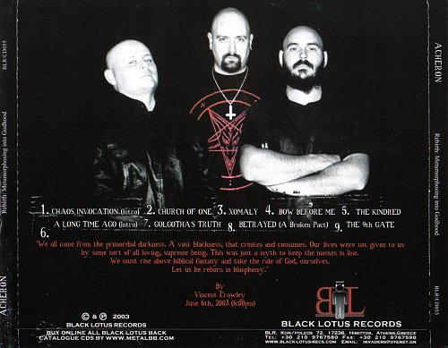Acheron - Rebirth  Metamorphosing Into Godhood (2003)