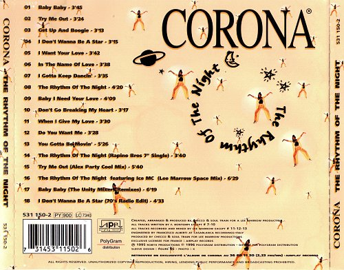 Corona - The Rhythm Of The Night (1996)