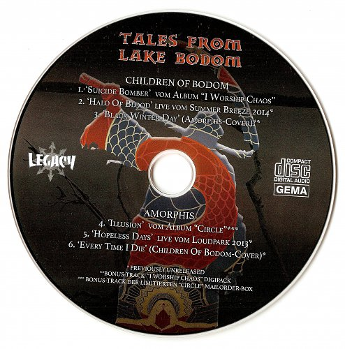 Children Of Bodom / Amorphis - Tales From Lake Bodom (2015)