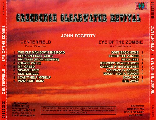 John Fogerty - Centerfield (1985) / Eye Of The Zombie (1986)