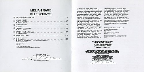Meliah Rage - Kill To Survive (1988)