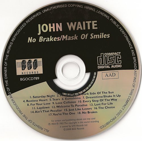 John Waite - No Brakes (1984) & Mask Of Smiles (1985)