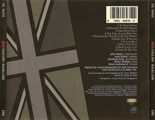 Bad English - Backlash (1989)