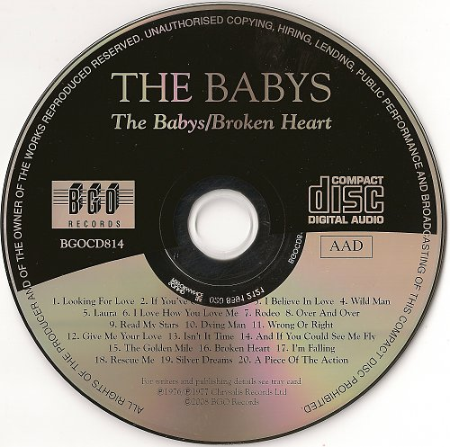 Babys, The - The Babys (1976) & Broken Heart (1977)