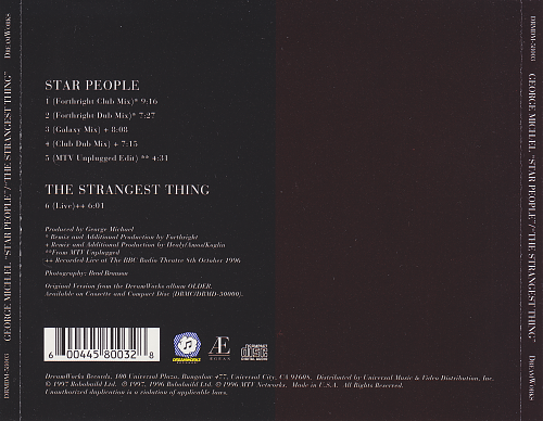 George Michael - Star People / The Strangest Thing (1997)