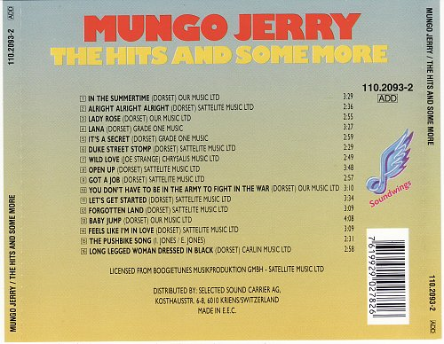 Mungo Jerry - In the Summertime: the Hits and Some More (1993)