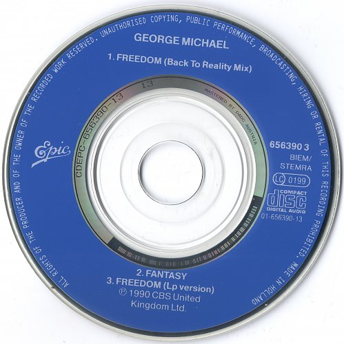 George Michael - Freedom (1990, CD Single)
