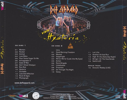 Def Leppard - Viva Husteria (Live At The Joint Las Vegas) (2013)