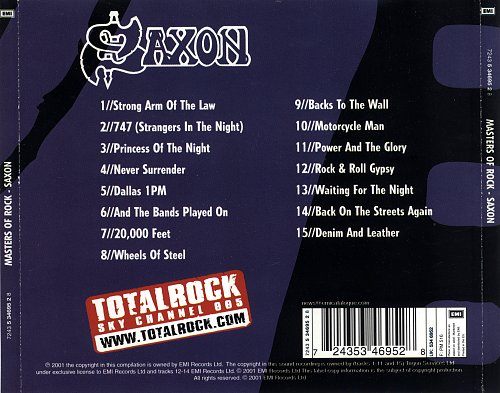 Saxon-Master of rock(2001)