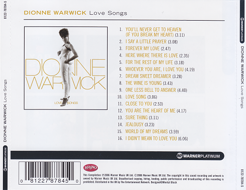 Dionne Warwick - Love Songs (2006)