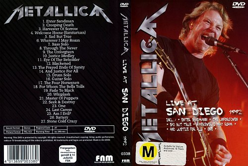 Metallica - Live In San Diego (1992)