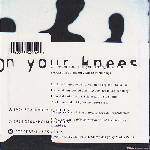 Stakka Bo - On Your Knees (1994, CDS)