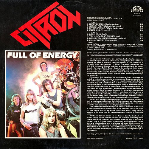 Citron - Full Of Energy (English Version) (1986)