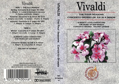 Vivaldi - The Four Seasons Concerto Grosso (2000) [Tring International MNSYM004 nv]