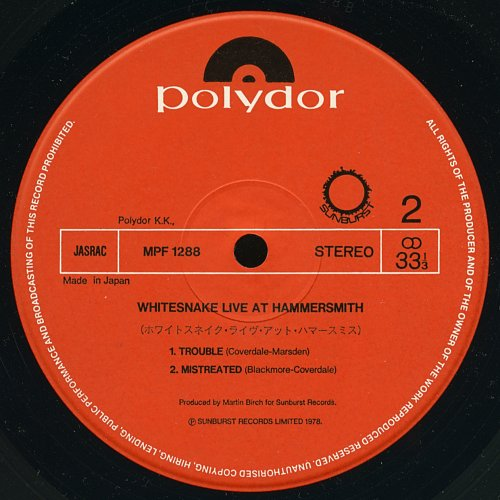 Whitesnake - Live At Hammersmith (1979)