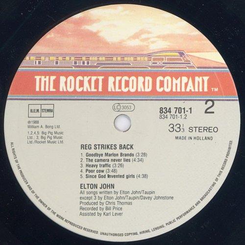 Elton John - Reg Strikes Back (1988)