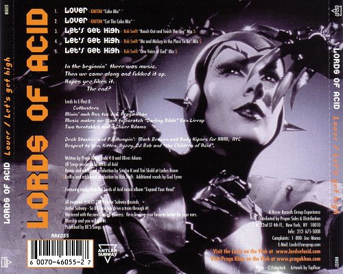 Lords Of Acid - Lover / Let's Get High (1999/2000 Antler Subway, Never Records, Disctronics, USA)