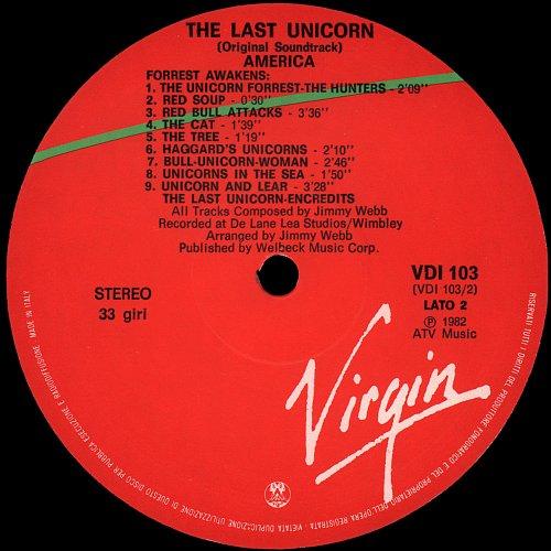 The Last Unicorn - Original Filmsoundtrack (1982)