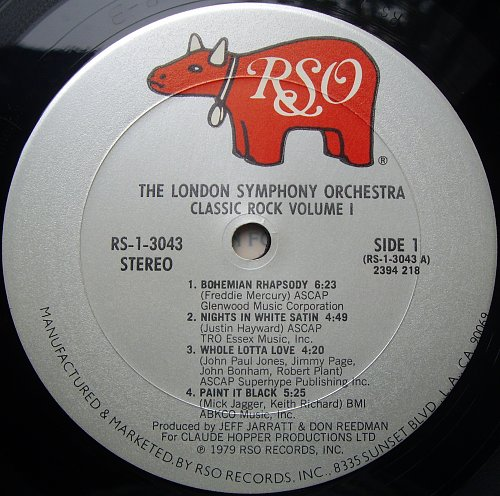London Simphony Orchestra, The - Classic Rock, Volume 1 (1979)