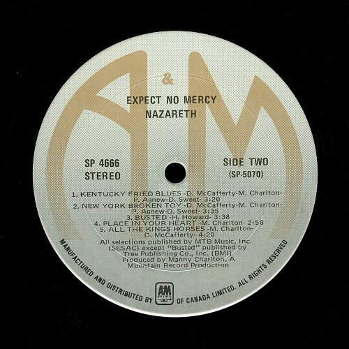 Nazareth - Expect No Mercy (1977) [A&M - SP 4666]
