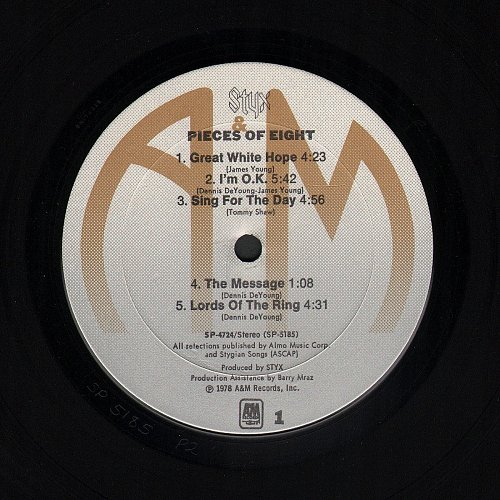 Styx - Pieces Of Eight (1978) [A&M Records – SP-4724]