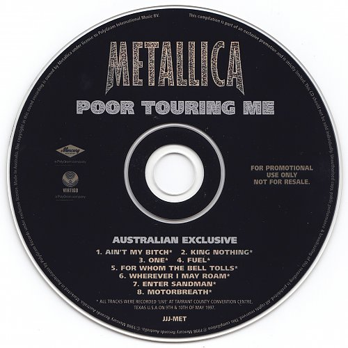 Metallica - Poor Touring Me (1998, EP)