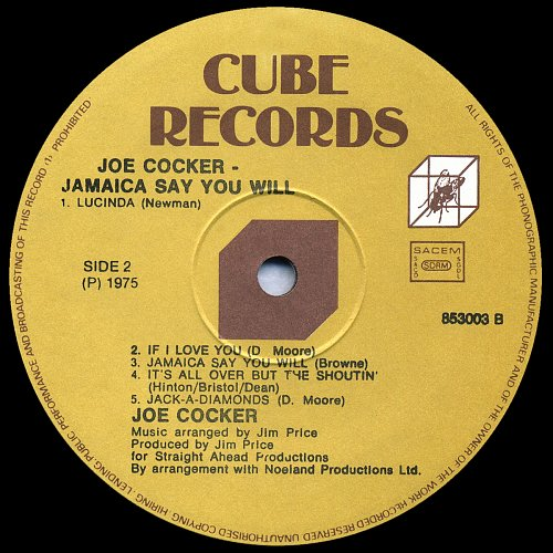 Joe Cocker - Jamaica Say You Will (1975)