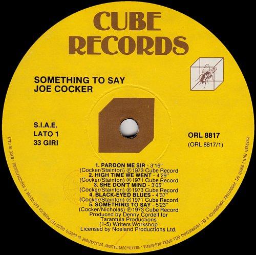 Joe Cocker - Something To Say (1973)