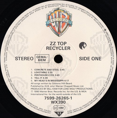 ZZ Top - Recycler (1990)