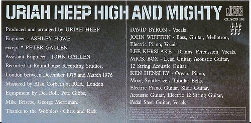 Uriah Heep - High and Mighty (1976)