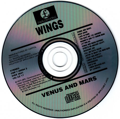 Wings - Venus and Mars (1975/1987)