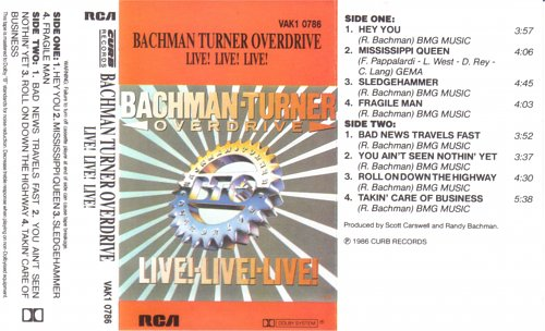 Bachman-Turner Overdrive - Live! Live! Live! (1986)