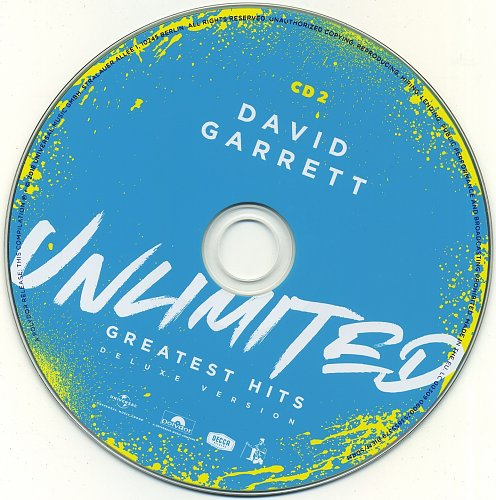 David Garrett - Unlimited: Greatest Hits (Deluxe Version, Digipak)(2 CD) (2018)