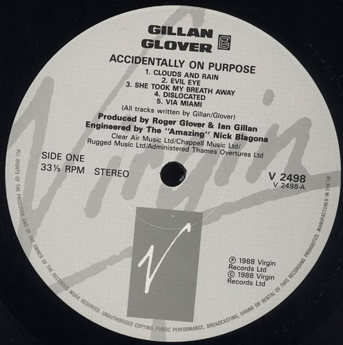 Gillan & Glover - Accidentally On Purpose (1988)