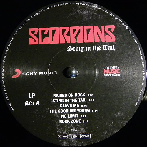 Scorpions - Sting in the Tail (2010)